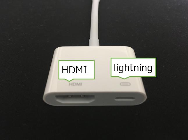Apple Lightning - Digital AVアダプタの端子部分