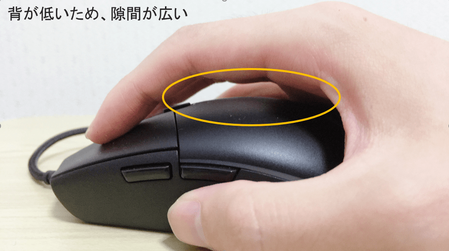 G Pro Gaming Mouseを手に持った所