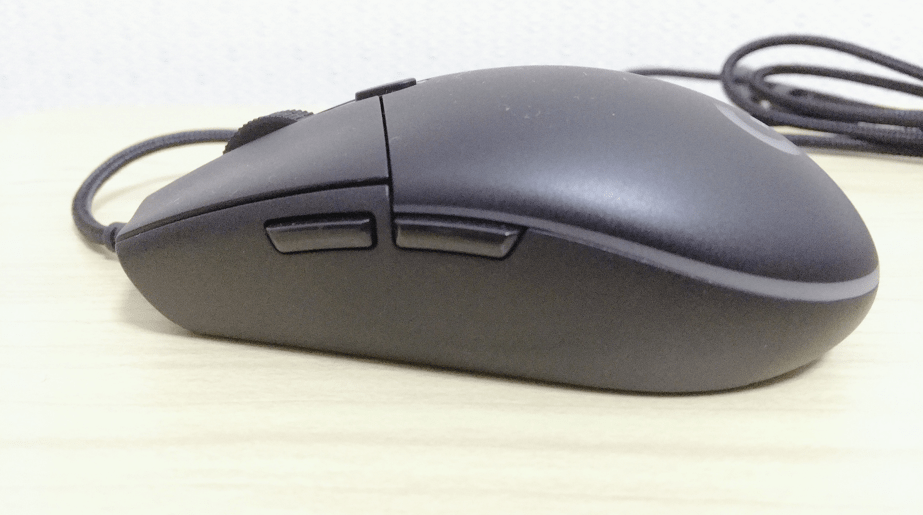 G Pro Gaming Mouseのサイドボタン