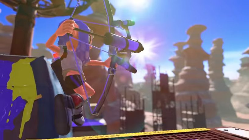 スプラトゥーン3の新ブキ「弓」アローの画像