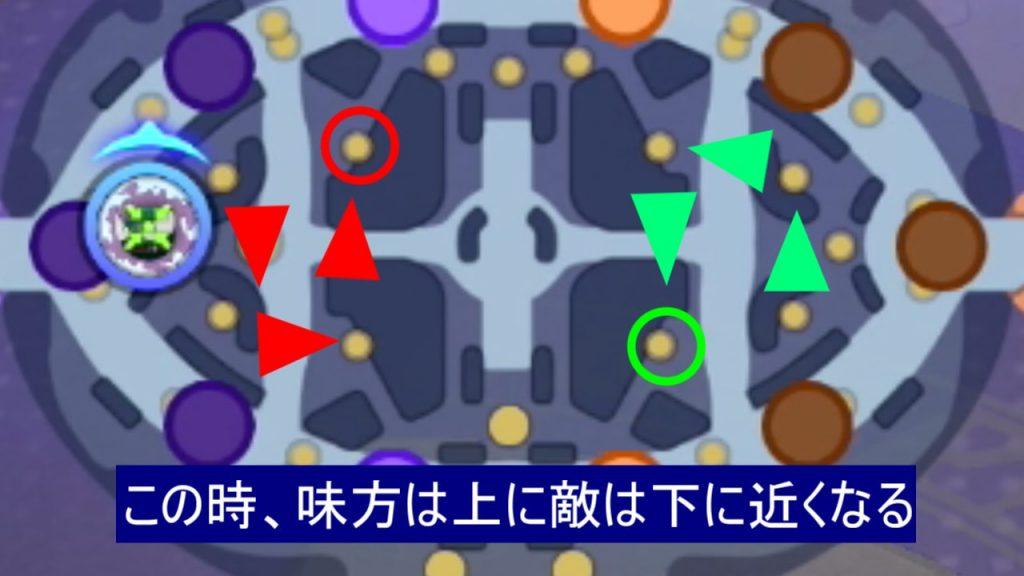 ヨーテリーの動きで中央レーンがどうなるかを解説【ポケモンユナイトの画像】
